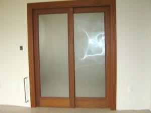 Porta interna 2 folhas de correr para vidro