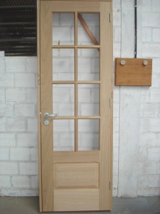 Porta interna para vidro com almofada inferior