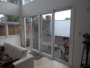 Porta janela em Pvc branco, 4 folhas